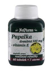 MedPharma Pupalka dvouletá 500mg+Vitamín E tob.67