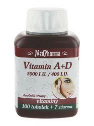Medpharma Vitamín A+D 5000 I.U./400 I.U. 107 tobolek