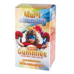 Medpharma Gummies Multivitamin + omega 3 želatinové tablety pro děti 60 tablet
