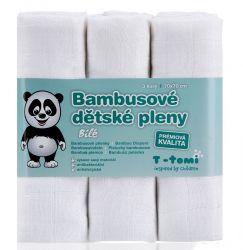 T-tomi Bambusové BIO pleny sada 3 ks bílé