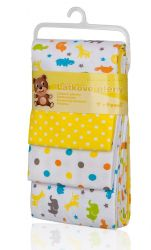 T-tomi Látkové pleny sada 4 ks žluté žirafy