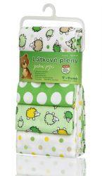 T-tomi Látkové pleny sada 4 ks zelení ježci