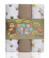 T-tomi Látkové TETRA pleny sada 3 ks opice