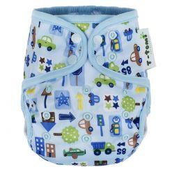 T-tomi Svrchní kalhotky 1 ks modrá auta