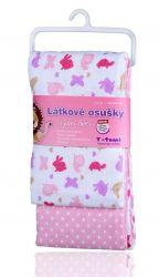 T-tomi Látkové osušky sada 2 ks růžoví šneci