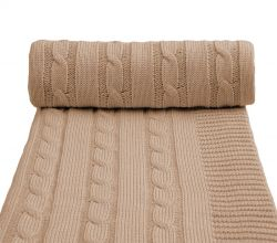 T-tomi Pletená deka 1 ks béžová