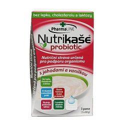 Nutrikaše probiotic s jahodami a vanilkou 3 x 60 g