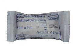 Steriwund Obinadlo hydrofilní pletené sterilní 6 cm x 5 m 1 ks