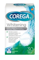 Corega Whitening Antibakteriální tablety 30 tablet