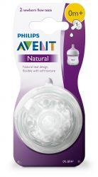 Avent Dudlík Natural 1 novorozenecký průtok 2 ks