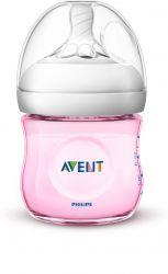 Avent Láhev Natural 125 ml 1 ks růžová