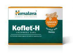 Himalaya Herbals Koflet-H Ginger pastilky s medem 12 ks