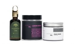 Agrico Oil Sada pleťové kosmetiky s arganovým olejem 3 ks