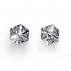 Náušnice Cube Midi crystal