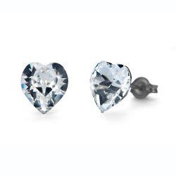 Náušnice Heart Midi crystal