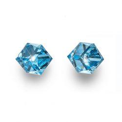 Náušnice Cube Midi aquamarine