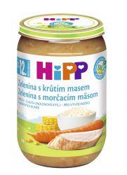 Hipp DĚTSKÉ MENU BIO Zelenina s krůtím masem 220 g