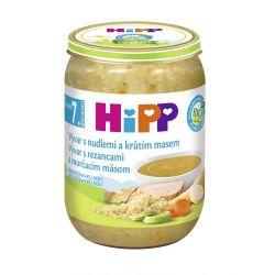 Hipp BIO Polévka vývar s nudlemi a krůtím masem 190 g
