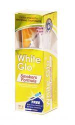 White Glo Smokers Formula bělicí zubní pasta pro kuřáky 150 g + kartáček