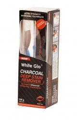 White Glo Charcoal bělicí zubní pasta 150 g + kartáček