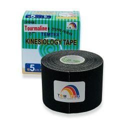 TEMTEX Kinesio tape Tourmaline 5 cm x 5 m tejpovací páska černá