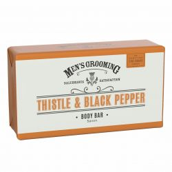 Scottish Fine Soaps Černý pepř a ostropestřec pánské tělové mýdlo 200 g