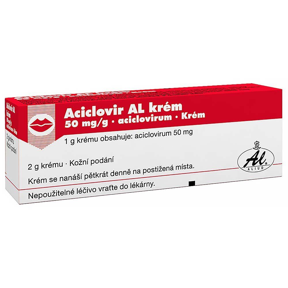 Aciclovir AL 100 mg dermální krém 2 g