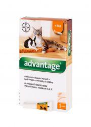 Advantage Roztok pro nakapání na kůži spot-on pro malé kočky a králíky 40 mg 1x0,4 ml