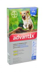 Advantix pro psy nad 25 kg spot-on 4x4 ml