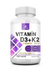 Allnature Vitamín D3+K2 Premium 120 tablet