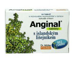 Anginal s islandským lišejníkem 16 tablet
