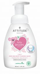 ATTITUDE Baby Leaves Pěnivé mýdlo a šampon 2v1 bez vůně 295 ml