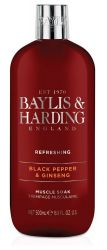 Baylis & Harding Pánská pěna do koupele Černý pepř a Ženšen 500 ml
