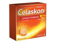 Celaskon ČERVENÝ POMERANČ 500 mg 30 šumivých tablet