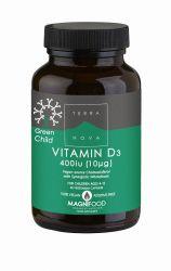 Terranova Vitamin D3 400 IU pro děti 50 kapslí