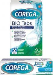 Corega Original extra silný 40 g + BIO Tabs čisticí tablety 30 ks