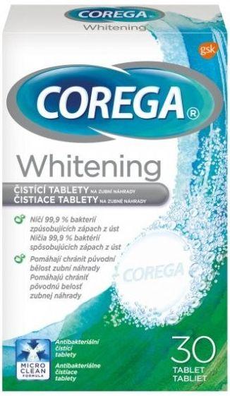Corega Whitening Antibakteriální tablety tbl.30