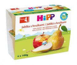 HIPP OVOCE 100% BIO Jablka s hruškami 4x100g