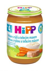 Hipp BABY MENU BIO Mrkev s rýží a telecím masem 190 g