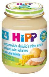 HiPP BIO Bramborové pyré s kukuřicí a krůtím masem 125g