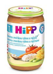 Hipp DĚTSKÉ MENU BIO Jemné těstoviny s mořskou rybou a rajčaty 220 g