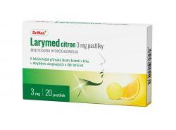 Dr.Max Larymed citron 3 mg 20 pastilek