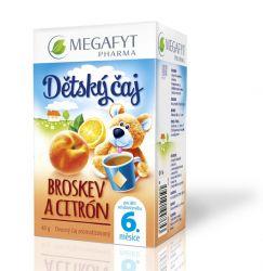 Megafyt Dětský čaj broskev a citrón porcovaný čaj 20x2 g