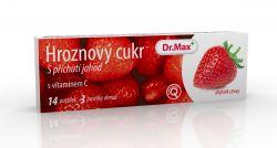 Dr.Max Hroznový cukr s vitaminem C jahoda 14 pastilek