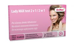 unes Lady MAX test 2v1 těhotenský test 2 ks