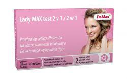 Dr.Max Lady MAX test 2v1 těhotenský test 2 ks