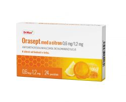 Dr.Max Orasept med a citron 0,6 mg/1,2 mg 24 pastilek
