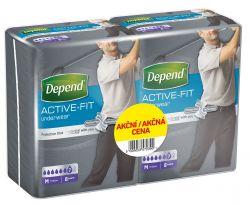 Depend Active-Fit pro muže vel. M inkontinenční kalhotky duopack 2x8 ks