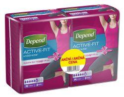 Depend Active-Fit pro ženy vel. M inkontinenční kalhotky duopack 2x8 ks