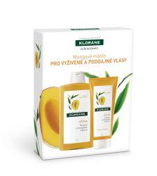KLORANE Xmass Mangové máslo dárkové balení pro vyživené vlasy